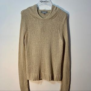Marled Reunited Tan Nubby Cotton Sweater Size XS